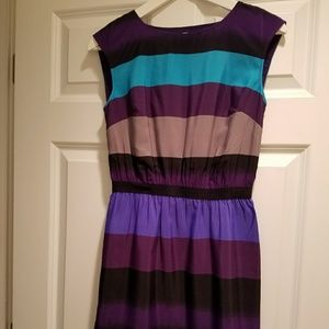 Loft striped dress petite XS